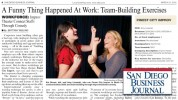SD Business Journal Reviews How We Connect Colleagues With Comedy