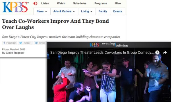 KPBS Features Finest City Improv team building workshops